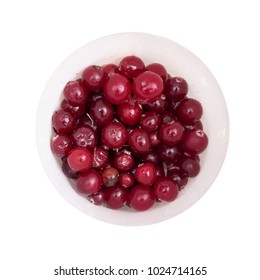 cranberries on the white background