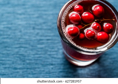 Cranberry Cocktail Shot with vodka
