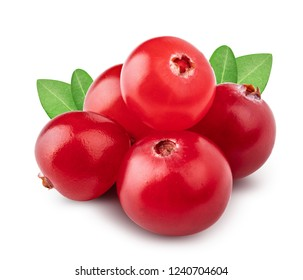 Cranberry isolated on white background. Clipping path
