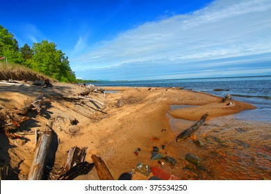 Cranberry River flows into Lake Superior in the upper peninsula of Michigan.