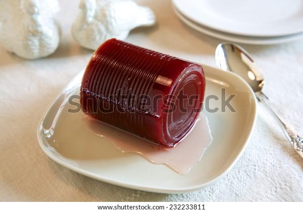 Cranberry sauce, gelée, à base de cannette