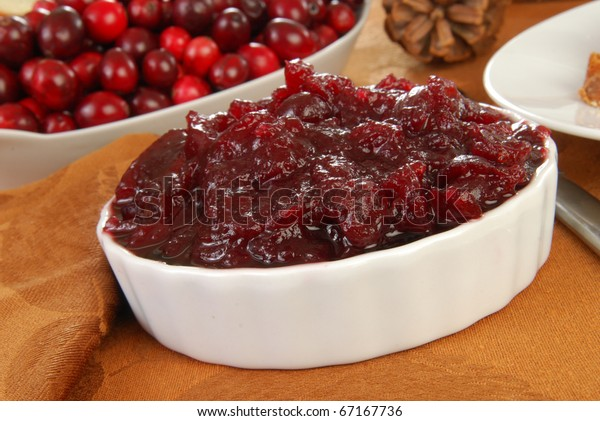 Cranberry sauce with whole cranberries