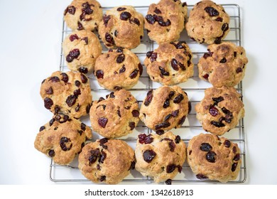 Cranberry scones on the tray