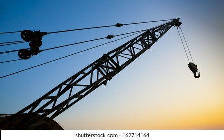 Crane Arm at Sunset