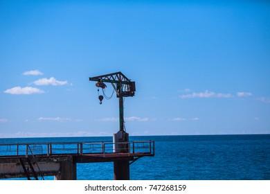 crane beam on the dock