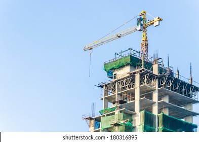 crane building construction site
