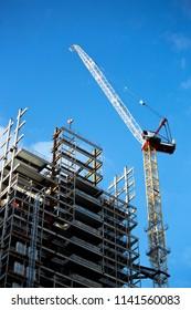 crane construction builing