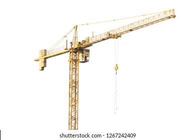 crane construction on white background