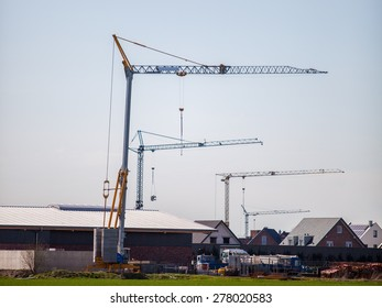 Crane in a construction site