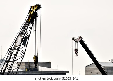 Crane construction site..