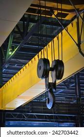 Crane gantry in steel plant