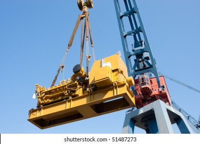Crane load over blue sky