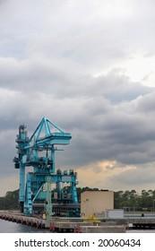 Crane on a Pier