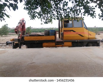 Crane for Railways on track  it is used to clear derailments of the trains and wagons