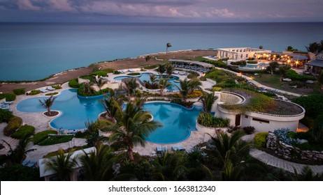 The Crane Resort, St. Philip / Barbados April 18 2010: Main pool complex.