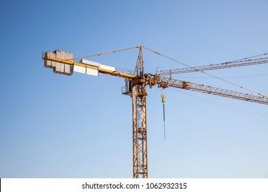 crane sky in lisbon