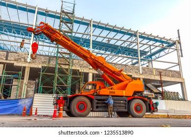 Cranes Hydraulic Cranes Construction Site Crane Installation Building Design