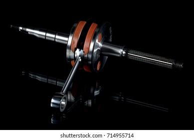 crankshaft on a black background