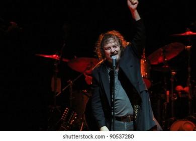 CRANSTON, RHODE ISLAND-OCTOBER 27: Italian rock singer, Zucchero Fornaciari, performs at the Park Theater on October 27, 2011 in Cranston, Rhode island.