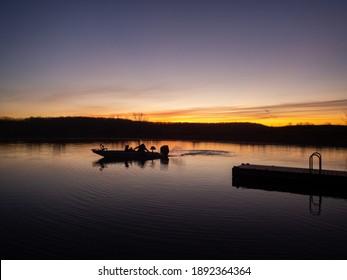 Crappie fisherman heading out to fish Truman Lake, Missouri