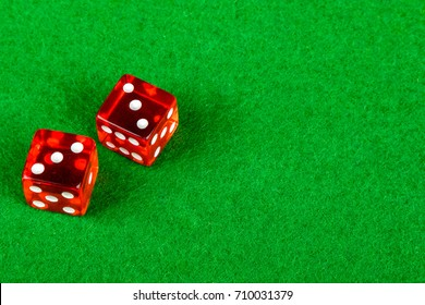 Craps dice showing double three