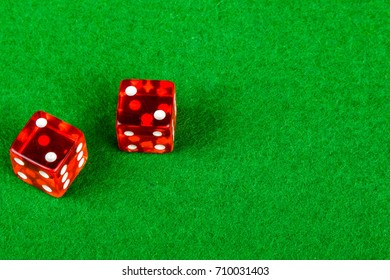 Craps dice showing double two