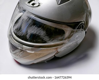 crash helmet after a motorcycle accident