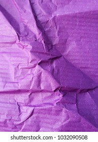 Crashed purple gift paper