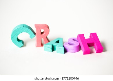 Crashed word, letters toppled over.