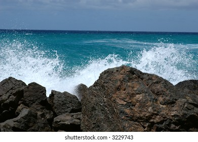 Crashing surf