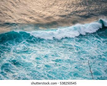Crashing wave / Bali  / birds eye view
