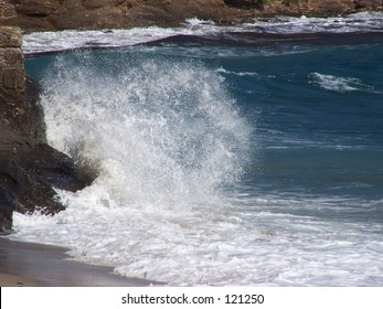 Crashing wave in the French Riviera