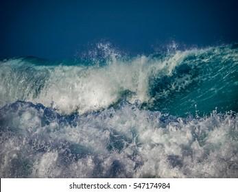 Crashing waves at Boca Grandi  Views around Curacao a small Caribbean island