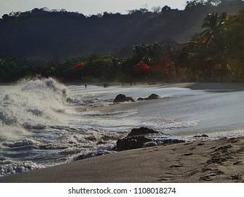 Crashing waves in Costa Rica