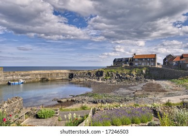Craster Harbour on the Northumberland coast, North East England