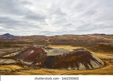 Grábrók crater (170 meters above the ground) belongs to the volcanic system of Ljosufjoll. This volcanic crater is located east of Lake Hreðavatn in the fjord of Borgarfjörður in West Iceland.