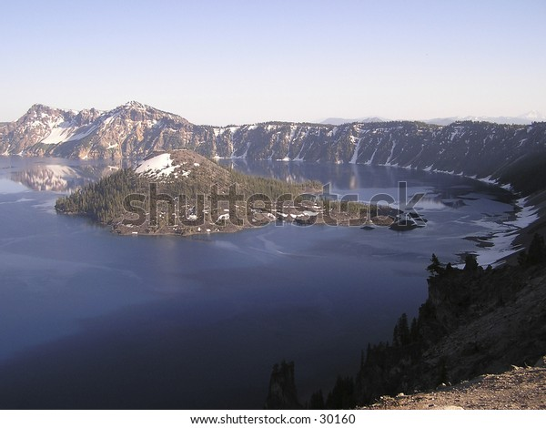 Crater Lake, National Park, Oregon. Crater Lake is widely known for its intense blue color and  spectacular views. Classify as the most limpid lake around the world.
