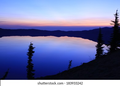 Crater Lake National Park Sunrise Oregon USA