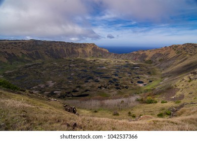 Crater Lake on Easter Island