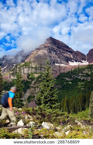 Crater Lake Trail Towards Maroon Bells Stock Photo (Edit Now