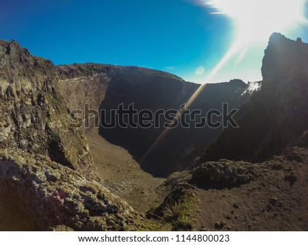 crater on top of