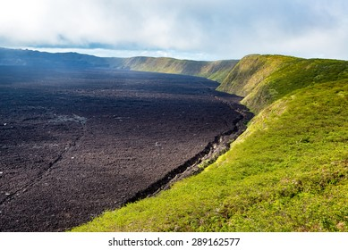 Crater of Sierra Negra Volcano on Isabela Island in the Galapagos Islands