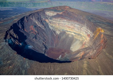 Crater view of vulcano Pito de la Fournaise