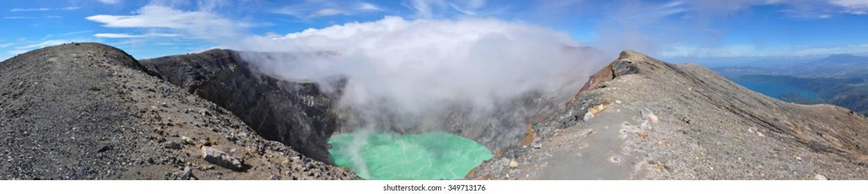Crater of Volcan Santa Ana, Cerro Verde National Park, El Salvador.
