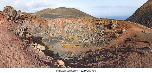 Crater of Volcano Close-up in La Palma, Canary Islands