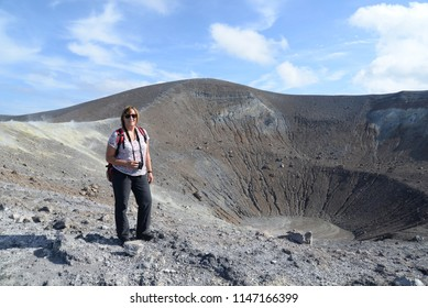 At the crater of Vulcano, Italy