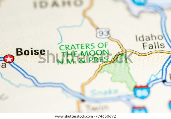 Craters Moon Nm Usa On Map Stock Photo (Edit Now) 774650692
