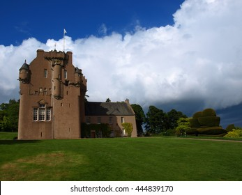 Crathes Castle in Scotland, Banchory, Aberdeenshire, Built in 1596 - Estate and Grounds