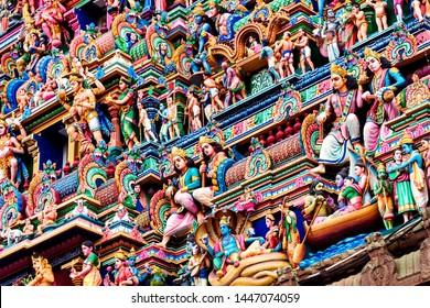 Craving detail in the Hindu Kapaleeshwarar Temple,chennai, Tamil Nadu, South India