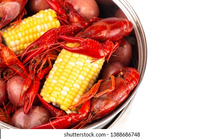 Crawfish Boil with Corn on the Cob and Potatoes